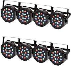 نقطة الغاسلة على الحائط 18X3w DJ Disco DX512 إضاءة المرحلة RGB مجموعة مصابيح LED تكافؤ