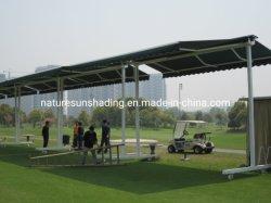 골프 코스를 위한 알루미늄 안뜰 독립 구조로 서있는 차일 철회 가능한 차일