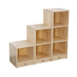 Klassieke multifunctionele Kindergarten kast Houten kinderen Nieuw ontworpen meubilair