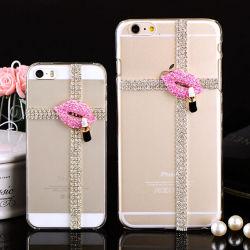 Telefone celular caso Luxury Ultra-Big Diamond jóias para iPhone 6 Plus caso