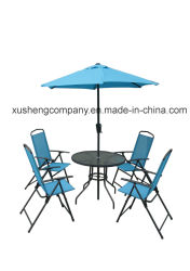 La mobilia dell'acciaio 6PCS Moder ha impostato da Table+Chairs+Umbrella