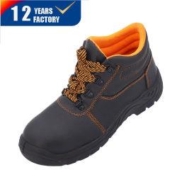 De echte Schoenen van de Veiligheid van het Leer Pu Outsole Chemische Bestand S3