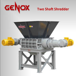 Reciclagem de Pneus M800T/Plástico Papel/ Madeira/pneu/Dois Triturador de eixo Shredder