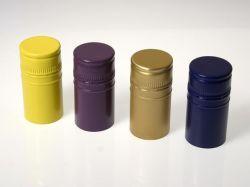 Une couleur supportant la conception en aluminium Bouteille de vin de la vis de fermeture standard