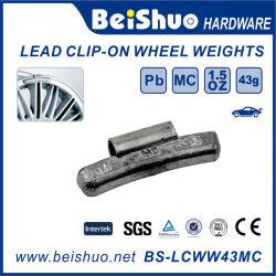 0.50 Oz 1/2 oz estilo Mc Peso de la rueda de acero