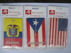 国旗の自動芳香剤