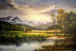 Les montagnes et rivières sur la peinture d'huile
