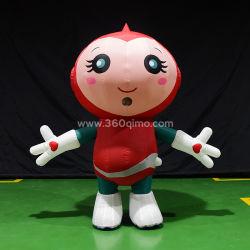 Belle caricature gonflable Costume de l'événement personnalisé gonflable à pied de la Mascotte gonflable costume pour la décoration de la parade