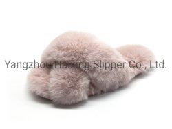 Slipper Slipper Slipper Soft Super Fur مع شريط تمرير دافئ مريح من Fur Slipper الفاخرة للنساء