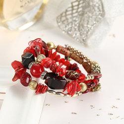 Abalorios de cristal irregular multicapa Boho encanto pulseras para las mujeres Vintage de piedra de Jade Yoga Pulseras Pulseras Joyas étnicas Esg13597