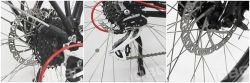 700c au milieu de montagne électrique moto avec moteur électrique (JB-TDA26L)