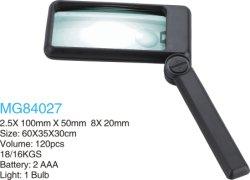 Vouwbaar Verlicht het Lezen Glas Magnifier (Mg 84027)