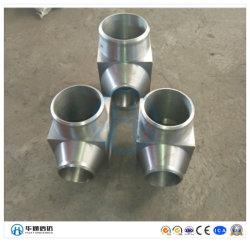 Haute pression en acier forgé douille soudée Raccords de tuyaux d'huile de coude
