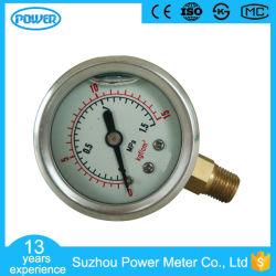 1.5Inch-40mm la mitad inferior de acero inoxidable tipo de conversación llena de líquido Manómetro