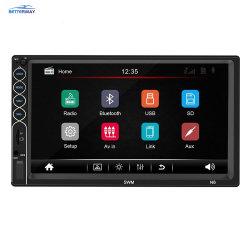 N6 2 DIN estéreo para coche reproductor de MP5 de 7 pulgadas de Bluetooth USB Receptor de radio de Aux.