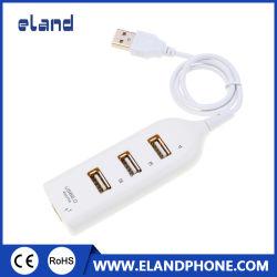 Concentrateur USB 2.0 avec 4 ports USB jusqu'à 480 Mbit/s.