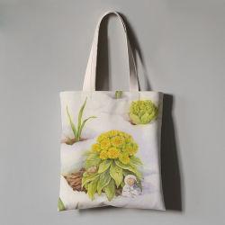 Sacchetto su ordinazione della spiaggia della tela di canapa del sacchetto di banco di acquisto della tela di canapa del ricamo promozionale
