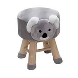 美しい木の装飾的な動物の形座席のための柔らかいファブリックカシのオットマン