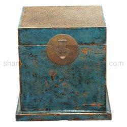 중국 골동품 핸드페인티드 엘름 우드 작은 간판 침대 테이블 또는 테이블 끝