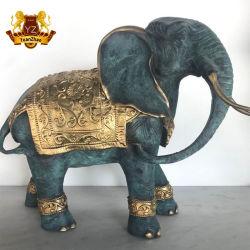 Accueil Metal Art Sculpture décoration à la cire perdue bronze coulé Statue de l'éléphant