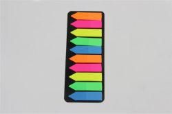 Venta caliente papelería autoadhesiva de plástico de 10 líneas de notas adhesivas para oficina y suministros escolares
