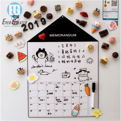 De aangepaste Kalender van de Magneet van de Ijskast van de Magneten van de Koelkast van de Kalender van pvc van de Magneten van de Nieuwigheid