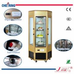 6 Стороны стекла вращающихся пирог шкаф морозильник торт дисплей холодильник