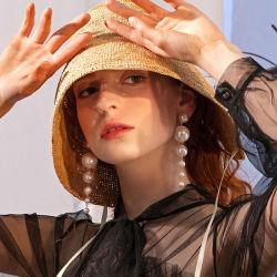Declaración de Moda Pendientes de perla de gran barroco de 2020 caída de largo pendientes para la Mujer Araña de boda Vintage pendientes