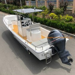 Liya 7,6m de pesca de fibra de vidrio o barco de Panga barco de pesca Offshore