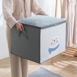 Grand ménage durable Non-Woven courtepointe de pliage Sac de rangement pour vêtements Sac de rangement des vêtements de l'organiseur courtepointes zipper