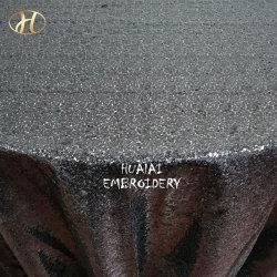 Hualai grand capot table Sequin rond noir pour mariage et de la partie