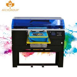 La prensa de calor para camisetas de cuello de prendas de vestir Pantalla Digital de la etiqueta de la máquina de impresión para el diseño gráfico