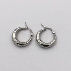 2021 最も最近の方法 316L ステンレス鋼円形の平面の Earring 宝石類
