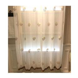 구름 거실 창 커튼을%s 디자인에 의하여 수를 놓는 레이스 직물 Tulle 커튼