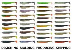 Isca de pesca Projetando Molding produzindo Soft atrai o plástico rígido atrai