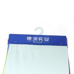 A cor branca de malha de poliéster 100 Tecido Jersey duplo