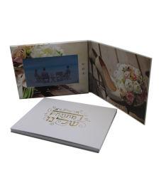 Reproductor de vídeo de medios de publicidad de vídeo de promoción de la tarjeta de felicitación de Folleto de 7cm de Imprimir Pantalla LCD Libro Catálogo Digital de la tarjeta de invitación Tarjetas de invitación de boda