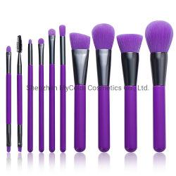 Shenzhen Professional OEM/ODM 10pcs pincel de maquillaje en polvo de la colección de la fundación de la herramienta Pincel de belleza