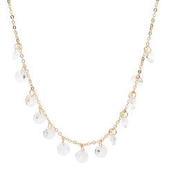 Jóias de cadeia delicado colar com cordões de Cristal Amaldiçoada