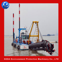 Keda Gold Mining Machinery Hydraulic 18인치 Sand Mining Dridge 머드 펌프 준설 장비 선박 강 절단기 흡입 디거