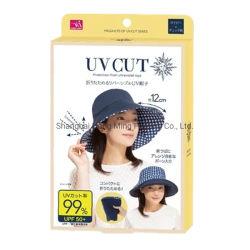 Contenitore impaccante del cartone di cappello bianco su ordinazione di Sun con la vostra stampa di marchio per la visualizzazione della memoria