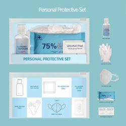 Désinfectant portable Set PPE Sanitizer Kit pour l'École de Bureau de Voyages