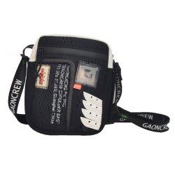 Unisex de moda Single-Shoulder Negro Bolsa Cruz encajes