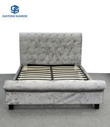غرفة نوم بسرير مزدوج أو كوين أو سرير مخملية مملوكًا سرير