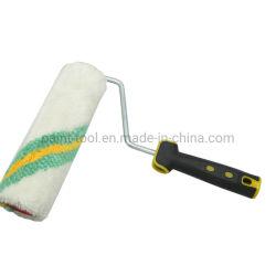 Outils de construction 9′ ′ peinture polyester à rouleaux ondulée vert vague Outil manuel de brosse rotative
