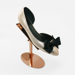 Höhenverstellbar Metallschuhe Rack Schuhe Display Halter Gold