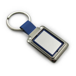 Plastik mit dem ledernen kundenspezifischen Firmenzeichen-Abbildung-Drucken, das Keychain dreht