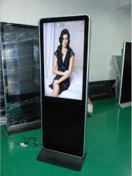 공장 도서관 접촉 스크린 간이 건축물 FHD 다중 접촉 스크린 브로셔 진열대를 광고하는 최신 43 인치 신문 LCD