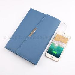 Notebook multifuncional com banco de potência e o titular do cartão