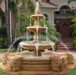 Il giardino di pietra di marmo crema della fontana di acqua della scultura dell'Egitto decora la fontana (SY-F028)